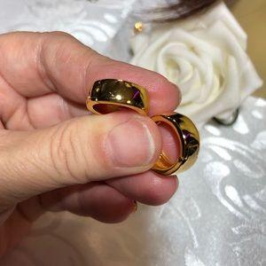 New Small plain gold hoop earrings